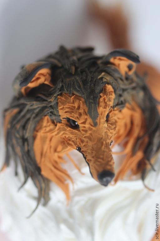"""Игрушки животные, ручной работы. Ярмарка Мастеров - ручная работа. Купить фигурка """"Колли"""" (статуэтка колли по фото, статуэтка собаки по фото). Handmade."""