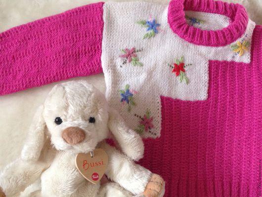 Одежда для девочек, ручной работы. Ярмарка Мастеров - ручная работа. Купить Джемпер ручной вязки для девочки. Handmade. Кофточка для девочки