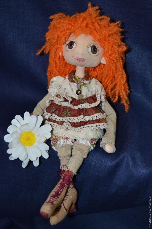 Коллекционные куклы ручной работы. Ярмарка Мастеров - ручная работа. Купить Кукла Любит не Любит. Handmade. Рыжий, фоамиран для цветов