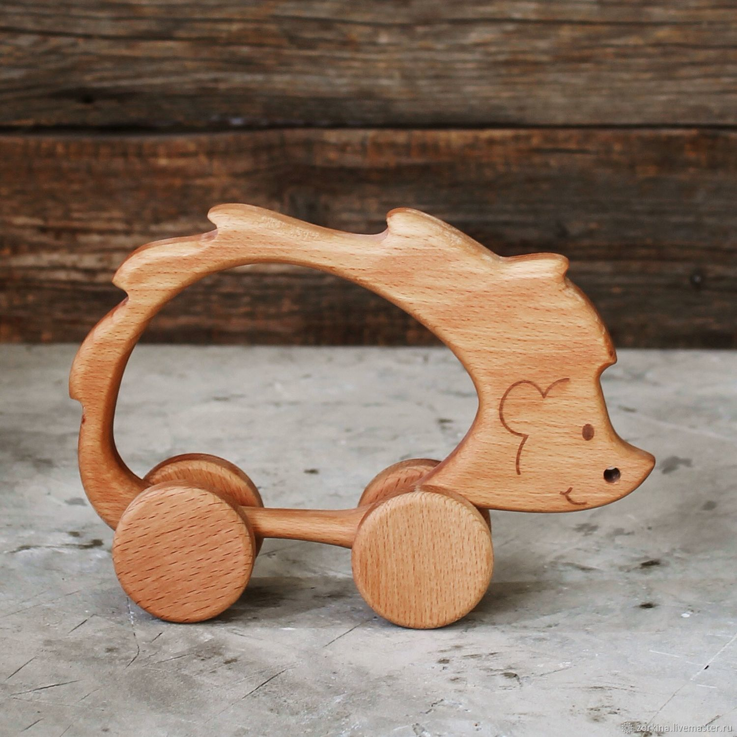 Wooden toy-gurney Hedgehog, Rolling Toys, Moscow,  Фото №1