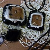 """Украшения ручной работы. Ярмарка Мастеров - ручная работа комплект """" деловой""""  ( браслет, кулон). Handmade."""