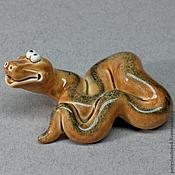 Мягкие игрушки ручной работы. Ярмарка Мастеров - ручная работа Змея змейка. Handmade.