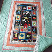 handmade. Livemaster - original item blankets: Patchwork quilt