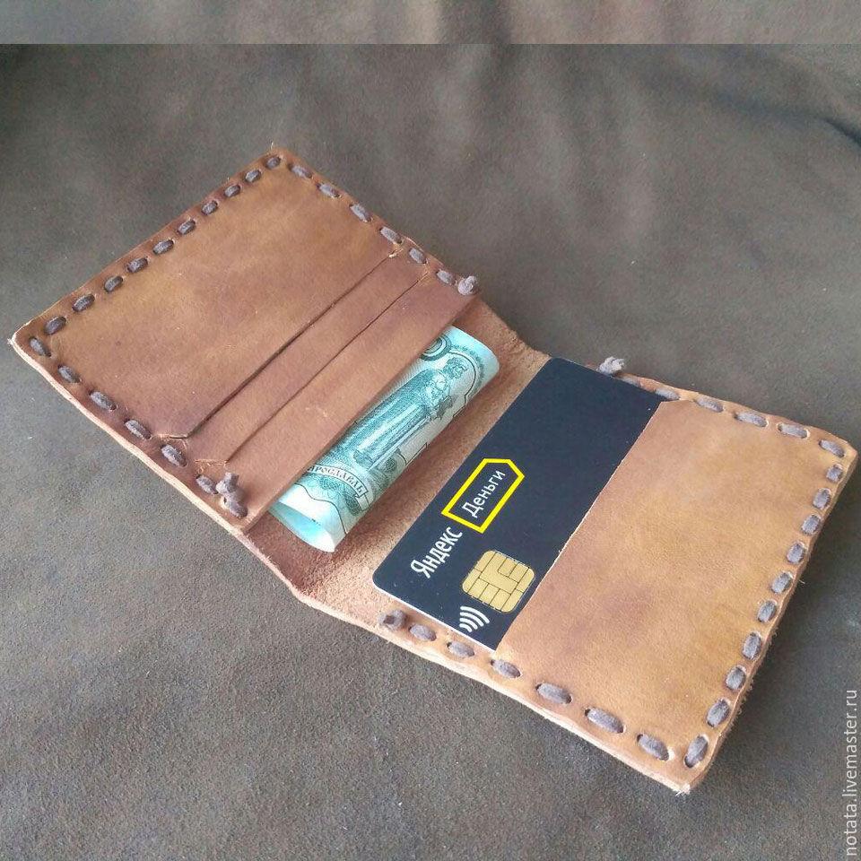 64f7ba29d8b5 Ярмарка Мастеров - ручная работа. Купить Кошелек/картхолдер кожаный  простой. ...