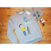handmade. Livemaster - original item Hand painted sweatshirt by Rick and Morty. Handmade.