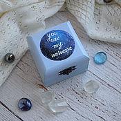 """Свадебный салон ручной работы. Ярмарка Мастеров - ручная работа """"Cosmic Wed"""" - cвадебная шкатулка для обручальных колец. Handmade."""