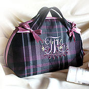 Сумки и аксессуары handmade. Livemaster - original item Cosmetic bag travelling bag Your personal road monogrammed. Handmade.
