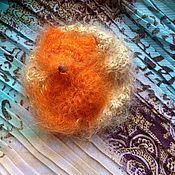 Украшения ручной работы. Ярмарка Мастеров - ручная работа Лисичкин сон :) Шелковая вязаная Брошь лиса. Handmade.