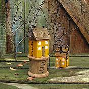 Для дома и интерьера ручной работы. Ярмарка Мастеров - ручная работа Домик - маяк - органайзер для ножниц (10). Handmade.