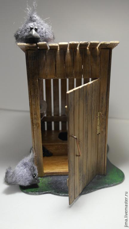 Миниатюрные модели ручной работы. Ярмарка Мастеров - ручная работа. Купить Просто КЛОЗИ.... Handmade. Коричневый, подарок на день рождения
