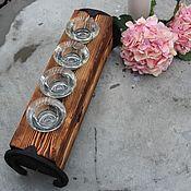 Для дома и интерьера ручной работы. Ярмарка Мастеров - ручная работа подсвечник деревянный на 4 свечи. Handmade.