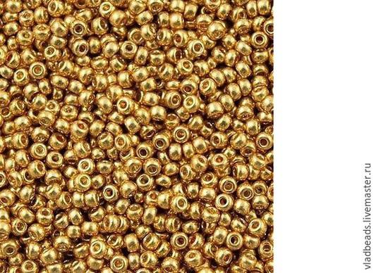 Для украшений ручной работы. Ярмарка Мастеров - ручная работа. Купить Бисер 8/0 Miyuki 4202 Duracoat Galvanized Gold. Handmade.