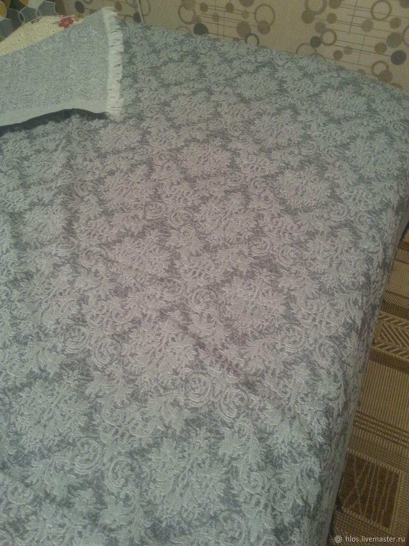 Текстиль, ковры ручной работы. Ярмарка Мастеров - ручная работа. Купить Покрывало льняное жаккардовое 'серебро'. Handmade. Плед, на кровать