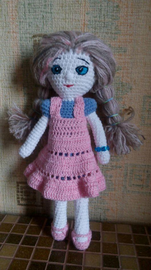 Миниатюра ручной работы. Ярмарка Мастеров - ручная работа. Купить Вязаная кукла. Handmade. Кукла ручной работы, кукла с одеждой