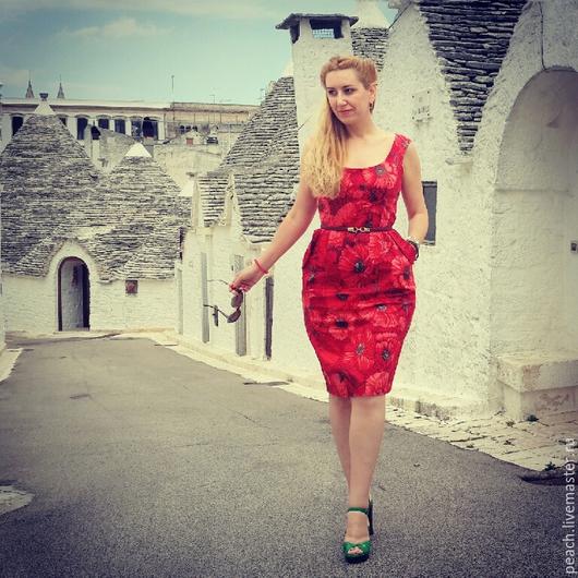 """Платья ручной работы. Ярмарка Мастеров - ручная работа. Купить Платье """"маки"""". Handmade. Платье летнее, платье на каждый день"""