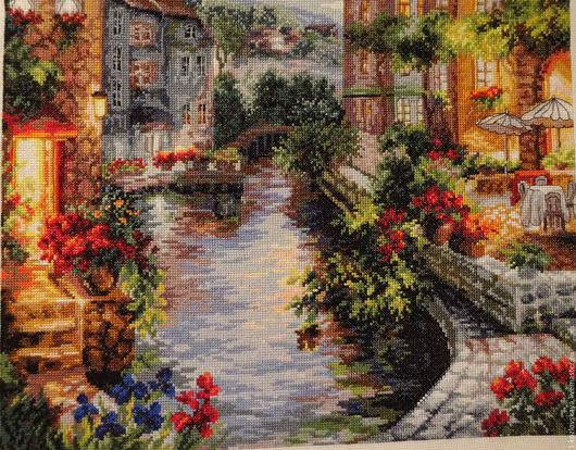 Город ручной работы. Ярмарка Мастеров - ручная работа. Купить Вечер в Венеции. Handmade. Комбинированный, подарок женщине, интерьерное украшение