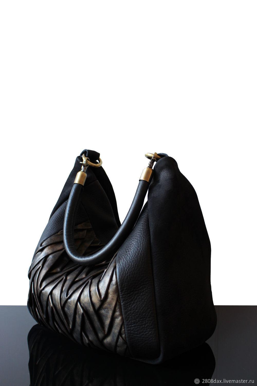 7d5c2e32fab6 Женские сумки ручной работы. Ярмарка Мастеров - ручная работа. Купить Черная  кожаная сумка, ...