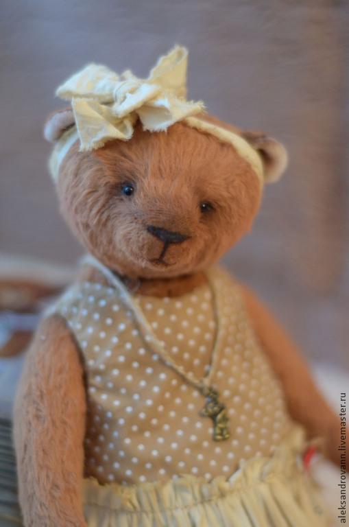"""Мишки Тедди ручной работы. Ярмарка Мастеров - ручная работа. Купить Тедди мишка """"Влюбленная Марта"""". Handmade. Бежевый"""