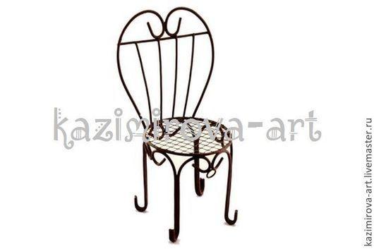 Куклы и игрушки ручной работы. Ярмарка Мастеров - ручная работа. Купить Металлический мини стул с сердцевидной спинкой 6х7х14см. Handmade.