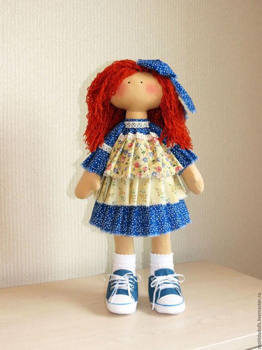 Человечки ручной работы. Ярмарка Мастеров - ручная работа. Купить текстильная кукла Алиса. Handmade. Рыжий, текстильная кукла, шерсть
