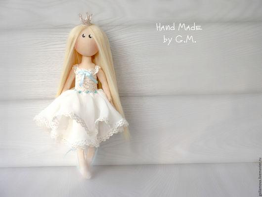 Коллекционные куклы ручной работы. Ярмарка Мастеров - ручная работа. Купить Маленькая принцесса. Handmade. Белый, кукла Тильда, холлофайбер