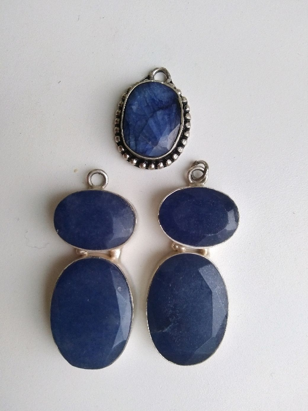 Pendants with agate, tinted under the sapphire. Set, Pendants, Samara,  Фото №1