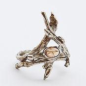 Украшения handmade. Livemaster - original item Ring of twigs with yellow tourmaline. Handmade.