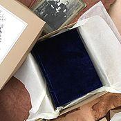 Фотоальбомы ручной работы. Ярмарка Мастеров - ручная работа Фотоальбом Синий Бархат / Blue Velvet mini 12х17. Handmade.