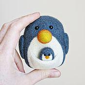 Куклы и игрушки ручной работы. Ярмарка Мастеров - ручная работа Пингуру - пингвин/кенгуру (авторская войлочная игрушка). Handmade.