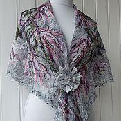 Аксессуары handmade. Livemaster - original item Openwork shawl - MARY. Handmade.