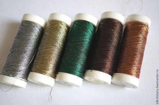 Вышивка ручной работы. Ярмарка Мастеров - ручная работа. Купить Металлизированные нити для вышивки, Франция. Handmade. Металлизированная нить