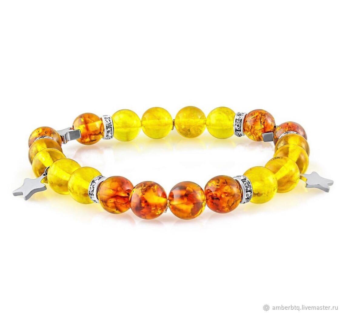 Personalized bracelet made of amber, Bead bracelet, Kaliningrad,  Фото №1