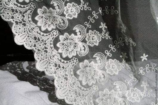Шитье ручной работы. Ярмарка Мастеров - ручная работа. Купить № 28 Кружевное шитье на сетке.. Handmade. Молочный цвет