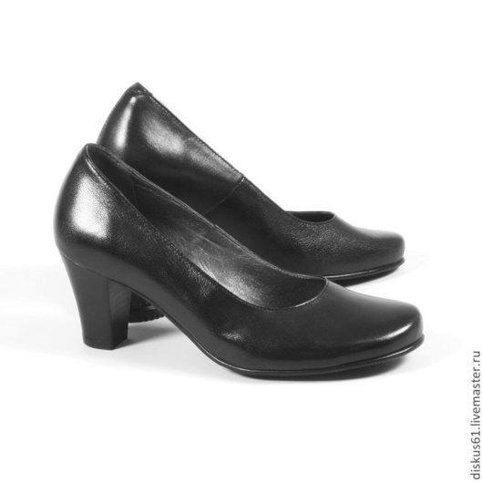 Обувь ручной работы. Ярмарка Мастеров - ручная работа. Купить Туфли женские М-336. Handmade. Черный