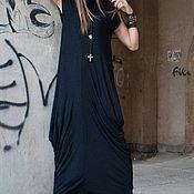 Одежда handmade. Livemaster - original item Long dress, cotton with lycra - DR0288TR. Handmade.