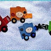 Куклы и игрушки ручной работы. Ярмарка Мастеров - ручная работа Паровозик  с застежками. Handmade.