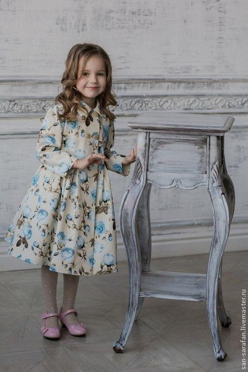 Одежда для девочек, ручной работы. Ярмарка Мастеров - ручная работа. Купить Плащ детский. Handmade. Бежевый, весна 2015