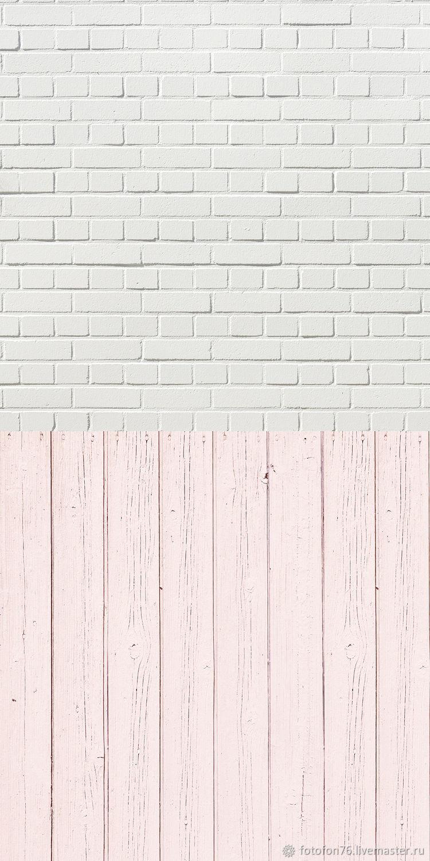 Фотофон кирпич и розовые доски (пол/стена) 50х100 см, Фото, Ярославль,  Фото №1