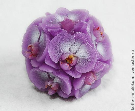 Материалы для косметики ручной работы. Ярмарка Мастеров - ручная работа. Купить Силиконовая форма для мыла Шар орхидей. Handmade.