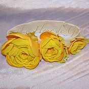 """Заколки ручной работы. Ярмарка Мастеров - ручная работа «Три розочки для принцессы» «Three little roses"""". Handmade."""