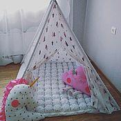 Для дома и интерьера ручной работы. Ярмарка Мастеров - ручная работа Вигвам детский, домик палатка. Handmade.