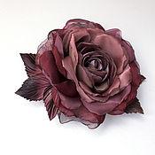 Украшения handmade. Livemaster - original item FLOWER brooch rose from the fabric