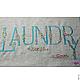 Ванная комната ручной работы. Мешочек Laundry льняной для белья,которому скоро отправляться в стирку. Вышивка на заказ! SEANNA (Анна). Интернет-магазин Ярмарка Мастеров.