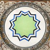 handmade. Livemaster - original item Dish porcelain with metal Board, Germany. Handmade.