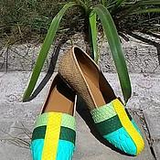 Обувь ручной работы. Ярмарка Мастеров - ручная работа Лоферы из питона. Handmade.