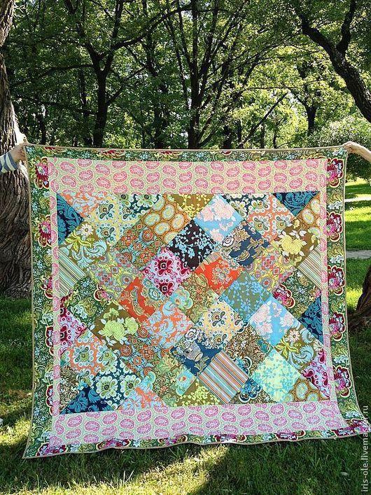 Текстиль, ковры ручной работы. Ярмарка Мастеров - ручная работа. Купить ЛЕЙЛА лоскутное покрывало. Handmade. Квилтинг и пэчворк