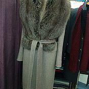 Одежда ручной работы. Ярмарка Мастеров - ручная работа Пальто из кашемира с съемным воротником из меха лисицы. Handmade.