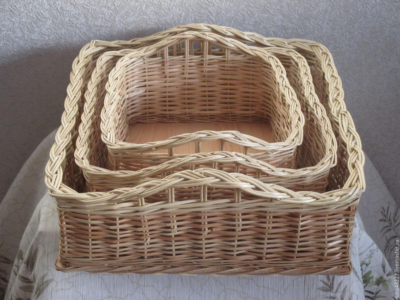 A set of wicker square baskets, Storage Box, Kirovo-Chepetsk,  Фото №1