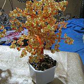 Подарки к праздникам ручной работы. Ярмарка Мастеров - ручная работа Дерево счастья из желтого и оранжевого цитрина. Handmade.