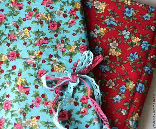 """Шитье ручной работы. Ярмарка Мастеров - ручная работа. Купить Ткань для рукоделия """"Контрастные цветы"""". Handmade. Ткань для рукоделия, ткань"""